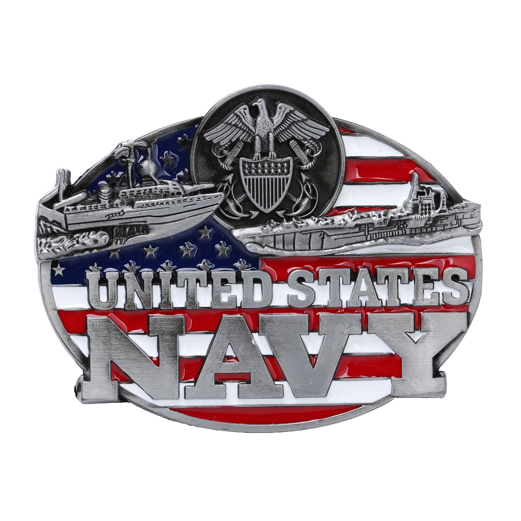 Men's United States Navy Belt Buckle Cowboy Indian Jeans Belt Buckle Western Cowboy Belt Buckle
