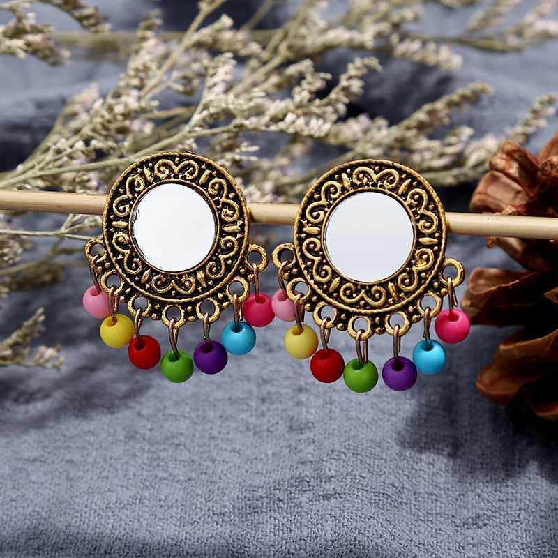 Darmowa wysyłka nowe kobiety w stylu Vintage Retro srebrny kolor afryki kolorowe kamienie biżuteria ślubna naszyjnik zestawy kolczyków najlepszy prezent