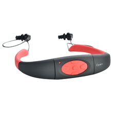 цена на 8Gb Waterproof Mp3 Swimming Diving Sport Mp3 Music Player Neckband Stereo Headset With Fm