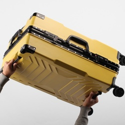 Roboter 100% aluminium rahmen 20/24/26/28 zoll größe Hohe qualität Roll Gepäck Spinner marke Reise koffer