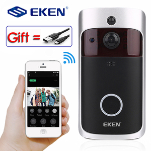 Image 1 - Eken 2020 Smart Wifi Video Deurbel Camera Visuele Intercom Met Chime Nachtzicht Ip Deurbel Draadloze Home Security Camera