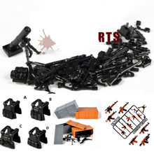 Moc Guns Waffe Pack Military Swat Team Bausteine Stadt PoliceS Soldaten Figur Lepining Military Armee Builder Serie Spielzeug(China)