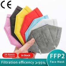 1-100 peças máscaras faciais fpp2 aprovado europa ffp2 máscara ffp2mask ce kn95 máscaras ffp2reutilizável máscara preta mascara mascarillas rímel