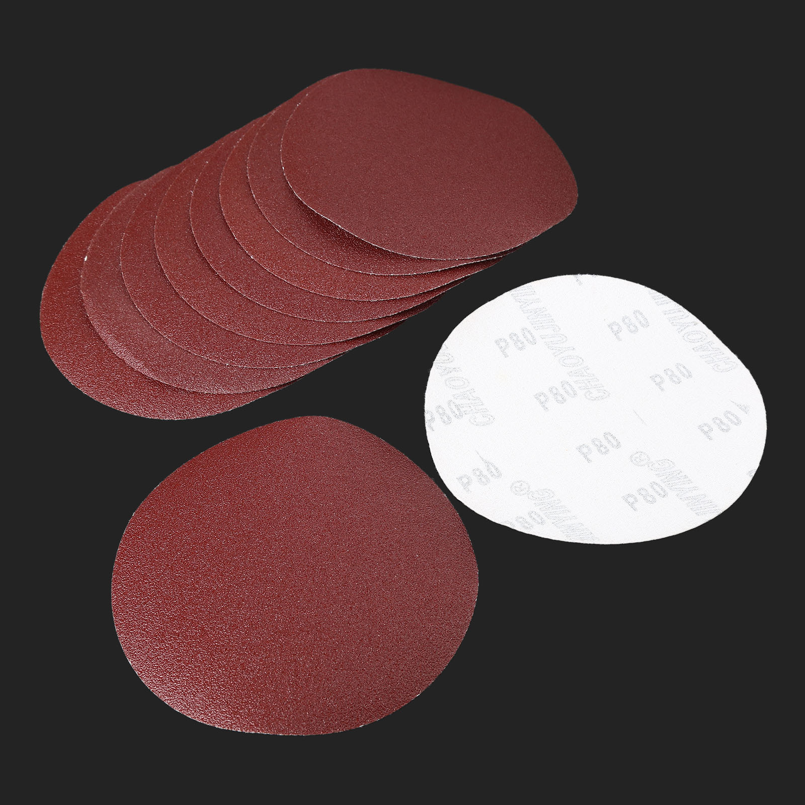 10Pcs 6inch 150mm Round Sanding Disc Sandpaper Disk Sand Sheets Grit 80/120/240 Hook & Loop Polishing Pad For Sander Grits