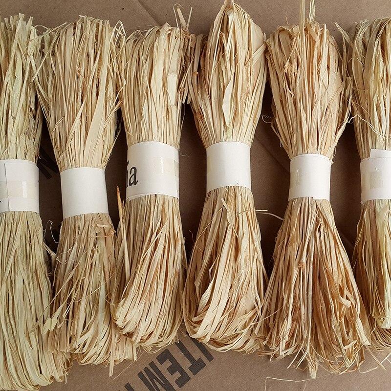 1 шт./компл. Женская упаковочная веревка из рафии, натуральная веревка из рафии, украшение для свадебной вечеринки, 30 г