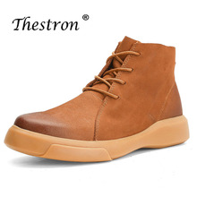 Spring Autumn Mens Safety Work Shoes Cow Suede Walk Shoes Men Fashion Mens Boots Brogue Casual British Oxford Boots For Men