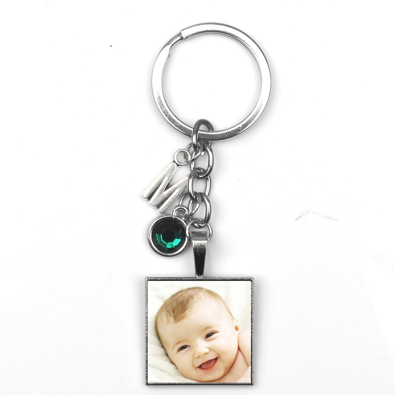 Personalizeds photo pendant personalizeds keychain photo baby boy mom daddy grandma love gift for family members gift Pet dog