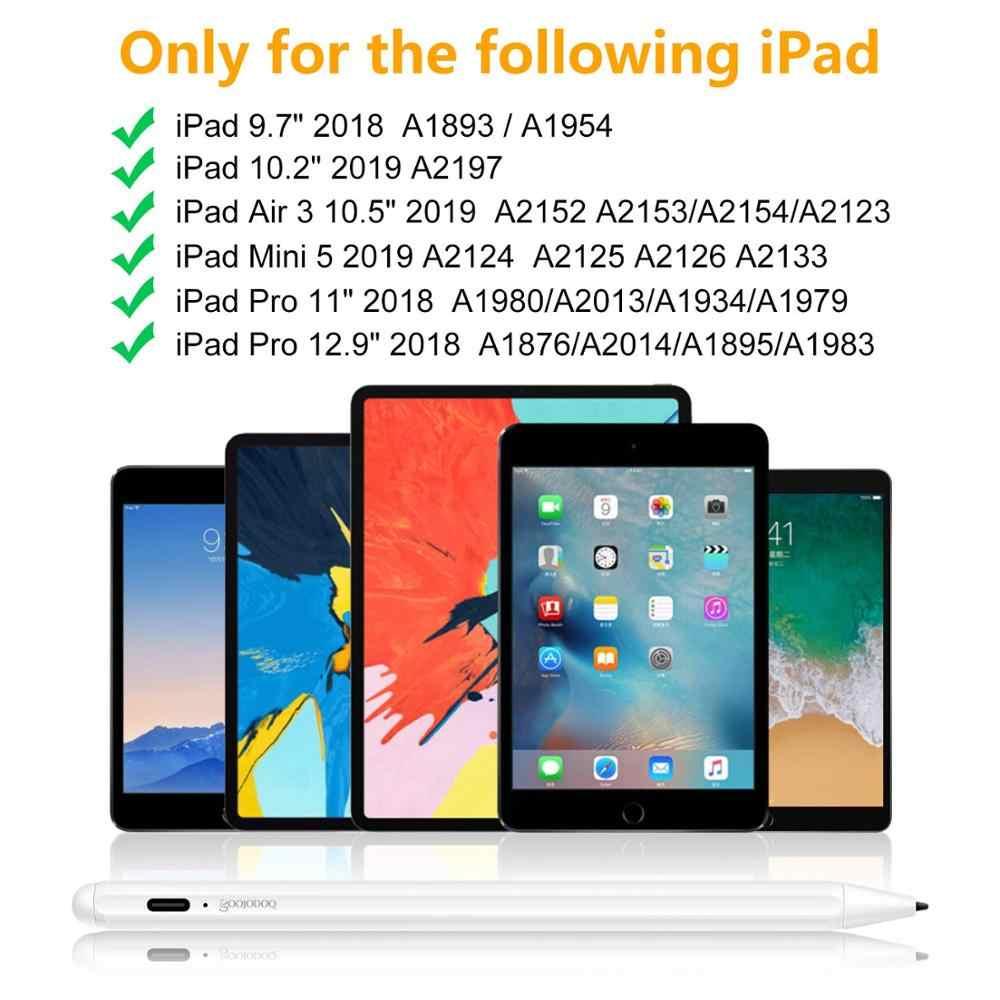 GOOJODOQ Bút Cảm Ứng Stylus Cho Bút Apple 2 1 Cho iPad 9.7 2018 Pro 11 12.9 2018 Không Khí 3 10.5 2019 10.2 Mini 5 Máy Tính Bảng Bút Cảm Ứng Kiêm Bút Ký