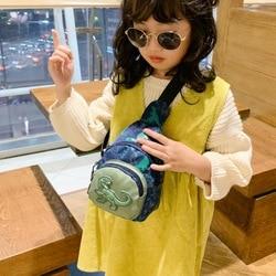 Bolsa bonita para niños, bolsa de hombro de ocio al aire libre, pequeño estampado de dinosaurio, bolsa de pecho para niños, bolsa de mensajero para bebé de dibujos animados