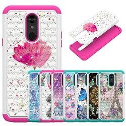 На Алиэкспресс купить чехол для смартфона luxury bling diamond case for lg x2 2019 v50 thinq 5g k10 2018 k30 stylo 4 stylus 4 stylo 5 q stylus phone cases back cover capa