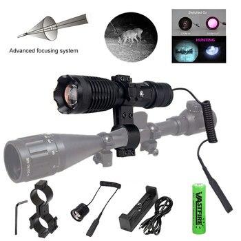 IR-710 7W Infrared Radiation IR Flashlight 850nm Night Vision Zoomable 1-Mode Adjustable Focus Hunting Lamp Weapon Light Lantern
