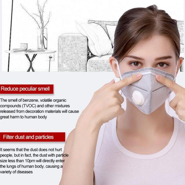 Reusable N95 Mask Anti Dust Flu respirator ffp2 Mask 4-Layer PM2.5 Dustproof Protective 95% Filtration Unisex Mouth Muffle Cover 2