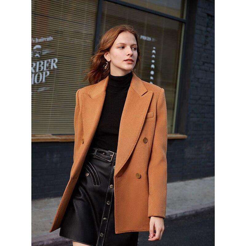 AEL Vintage Stylish Woolen Blazer Warm Jacket Women Casual Outer Wear 2019 Fashion Outerwear Chic Tops Office Lady