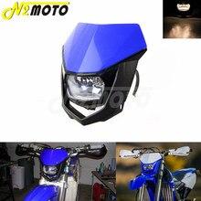 Двойной спортивный эндуро-обтекатель для мотоциклов и мотоциклов, для Yamaha YZ XT WR TTR TT Blue, 12 В 35 Вт