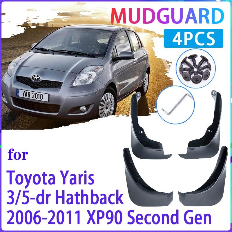 Palas carro para Toyota Yaris Vitz 2006 ~ 2011 XP90 2007 2008 2009 2010 Lamas do Respingo Guardas Fender Mudflaps Auto Acessórios