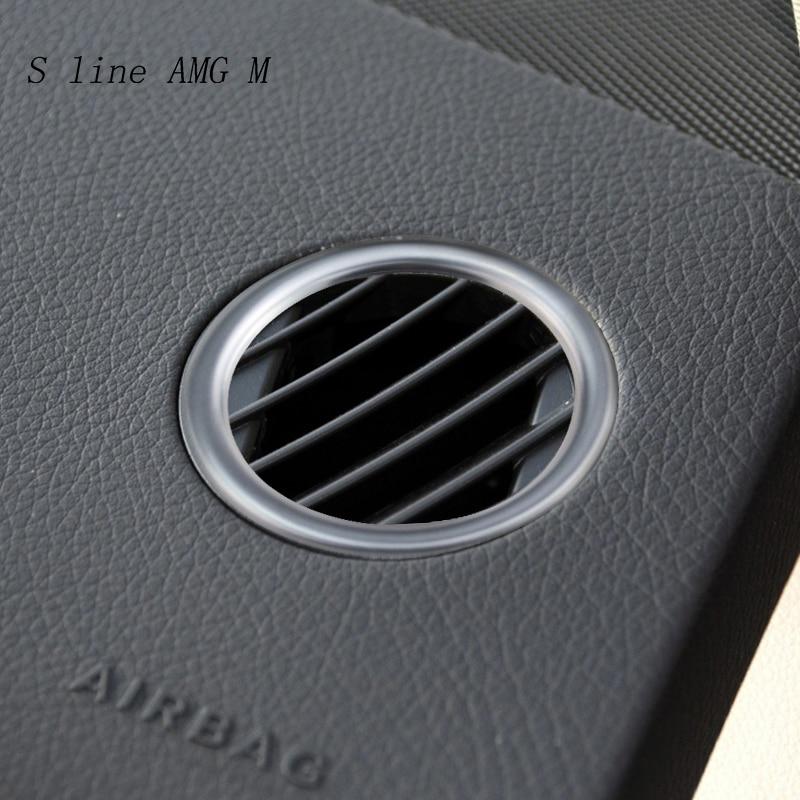 Mercedes Benz GLK GLS ML GLE GL X166 W166 X204 aksesuarları otomobil klima çıkış Vent ayar kapağı çıkartmalar araba şekillendirici