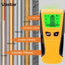 Vastar 3 In 1 Metal Detector Find Metal Wood Studs AC Voltage Live Wire Detect Wall Scanner Electric Box Finder Wall Detector(China)