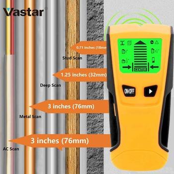 Vastar 3 w 1 wykrywacz metali znajdź metalowe i drewniane słupki napięcie prądu przemiennego wykrywanie drutu na żywo skaner ścienny skrzynka elektryczna wykrywacz detektor przewodów w ścianie tanie i dobre opinie Elektryczne Zasilany baterią