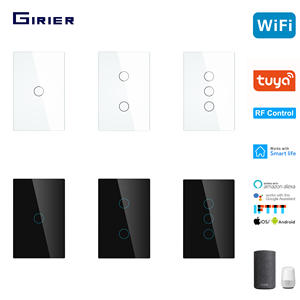 Smart Wifi Touch Switch No Neutral Wire Required Smart Home RF433 Tuya App Wireless Remote Light Switch 170-250V Support Alexa