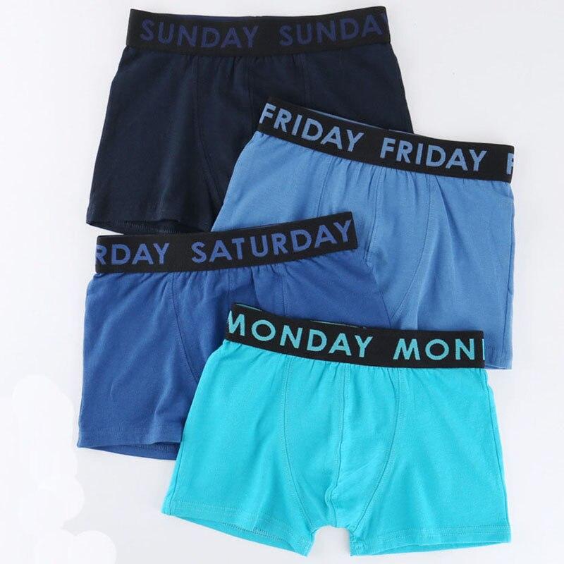 6 Pieces Monday Tuesday Wednesday Thursday Friday Saturday Sunday Boys Boxers Kids Cotton Pants Week Trunks Teenage Underwear