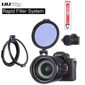Image 1 - UURig RFS ND Filter Quick Release DSLR Camera Accessory Quick Switch Bracket for 58mm 67mm 72mm 77mm 82mm DSLR Lens Adapter Flip