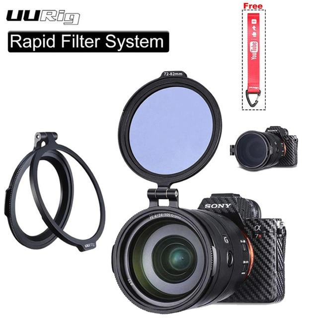 UURig RFS ND Filter Quick Release DSLR Camera Accessory Quick Switch Bracket for 58mm 67mm 72mm 77mm 82mm DSLR Lens Adapter Flip