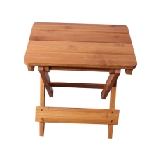 Bamboo folding stool portable household solid Bamboo taburet outdoor fishing chair small bench square stool