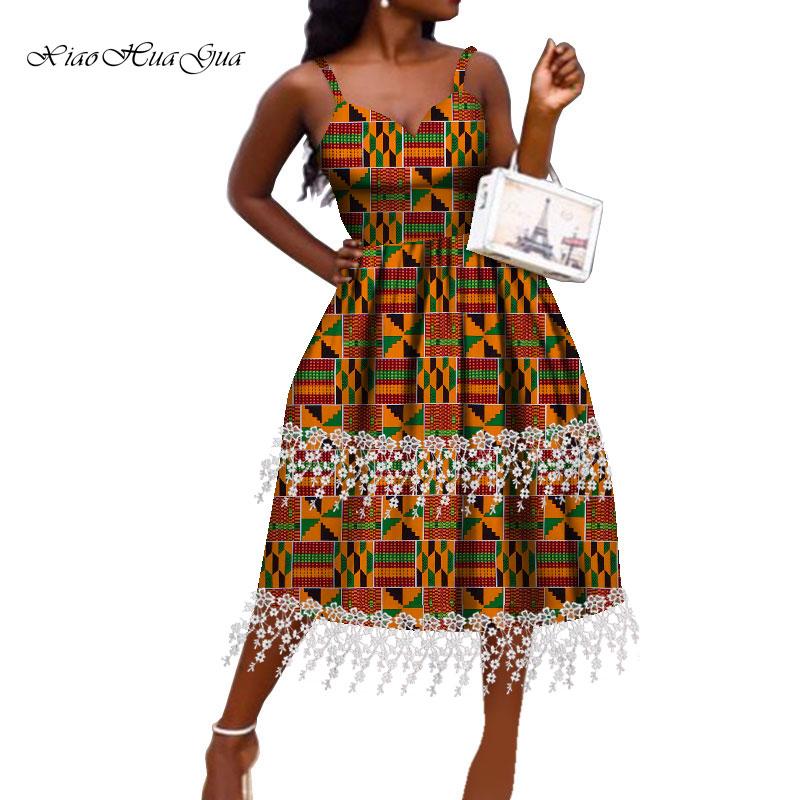 Женское платье в африканском стиле модное Анкары с открытыми
