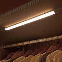 Zerouno luz led para debajo de gabinete Sensor de movimiento infrarrojo lámpara nocturna USB recargable luz armario lámpara 12cm 23cm 40cm