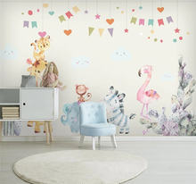 Сюэ su большой заказ росписи обои для детской комнаты с принтом
