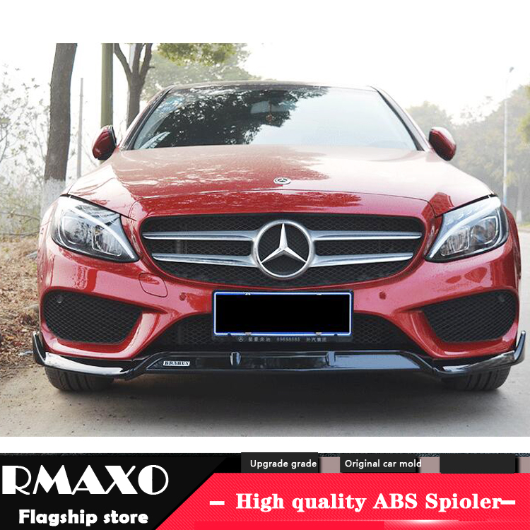 For <font><b>Benz</b></font> W205 ABS Rear Bumper Diffuser Protector For 2016-2018 C-class <font><b>W204</b></font> Body kit bumper rear <font><b>Front</b></font> shovel <font><b>lip</b></font> rear spoiler image