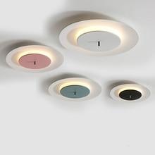 Simples e moderno led luz de teto nordic ferro crianças sala estar redonda lâmpada do teto quarto restaurante interior criativo luminárias