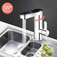 Kbxstart 3300W Instant Elektrische Wasserhahn Touch Schalter Einstellbar Temperatur Wasser Heizung Edelstahl Küche Elektrische Tap 220