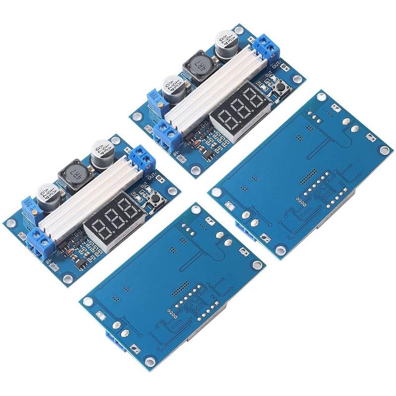 2 Pcs LTC1871 Boost Power Module High Power DC-DC 100W Adjustable Output 3.5-35V Step Up Power Supply Converter Module