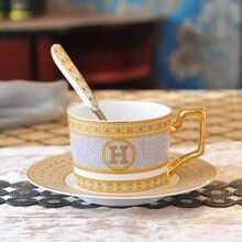 цена на High-grade bone china coffee cup saucer set tea cups and saucer set home ceramic afternoon tea cup to send spoon free ship