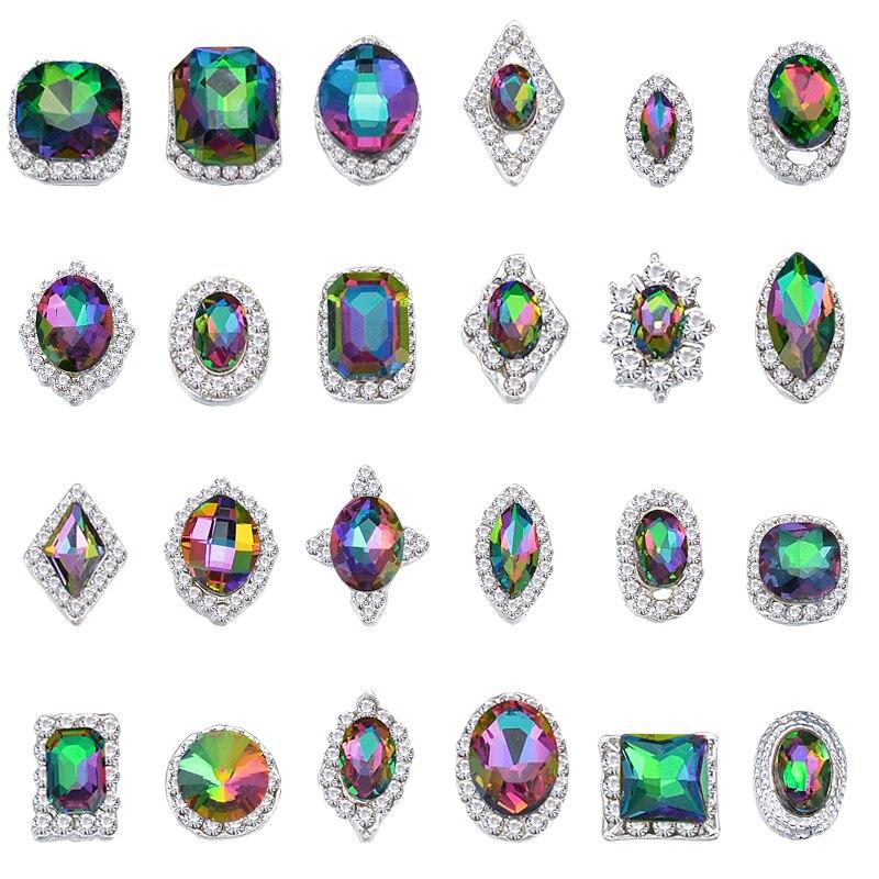 100 шт стразы кристаллы для 3d дизайна ногтей