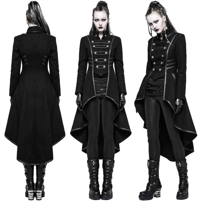Hbd90d0e8542947b3bb9fe64511e66dabU JIEZuoFang Black Medieval Dress For Adult Women Punk Victorian Retro Costume Renaissance Gothic Jacket Tuxedo Halloween Costumes