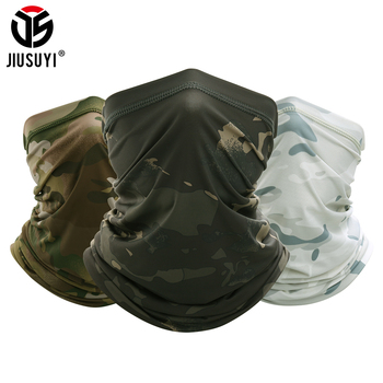 JIUSUYI Camouflage Breathable Neck Gaiter Headband Elastic Tube Scarf Multicam Half Face Cover Bandana Balaclava Women Men New summer neck gaiter breathable tube scarf half face cover soft stretch bandana elastic quick dry headband balaclava scarves women