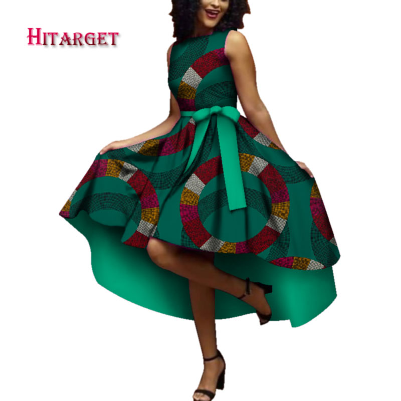 Hitarget 2020 African Dresses For Women Dashiki Ankara Wax Cotton Fabric Batik Sexy Dress For Femal Traditional Clothing WY4361