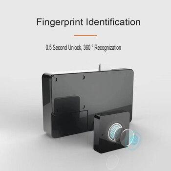 Smart Keyless Lock Semiconductor Fingerprint Drawer Black Lock Easy Installation Home Security Intelligent Office Cabinet Lock