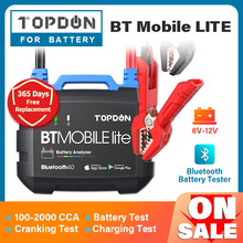 TOPDON Bluetooth Car Battery Tester BT mobile lite 12V Wireless Battery Monitor 100 2000CCA Auto Charger Cranking Analyzer Tool