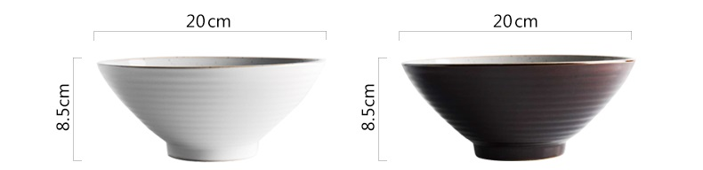 vitrificadas cerâmica ramen tigela tigela de sopa louça china porcelana g076