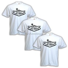 3 PACK of Stags in Las Vegas White T-Shirts stag party lads night stag night NEW(China)