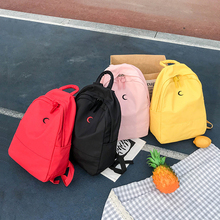 Backpack Candy Color Canvas Women Casual Printing  Girls School Bags Laptop Bagpack Mochilas Mujer