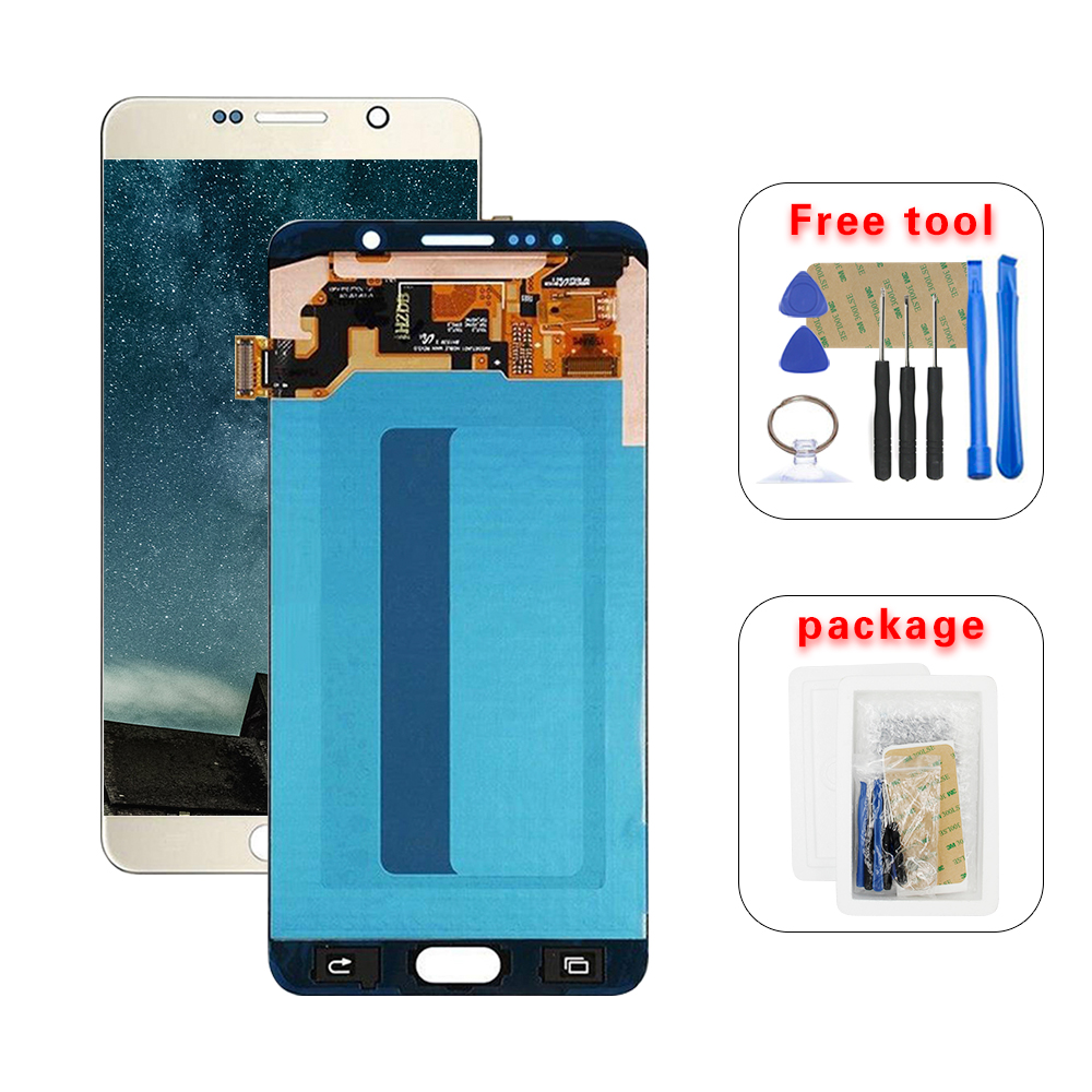 For SAMSUNG Galaxy  Note 5 Note5 N920A N9200 SM-N920 N920C AMOLED LCD Display Touch Screen Digitizer Assembly + Tools