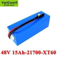 VariCore 48V 15AH 21700 13S3P High power 500W Electric Bike Battery E bike Battery 54.2V 15000mAh Lithium Battery with 50A BMS