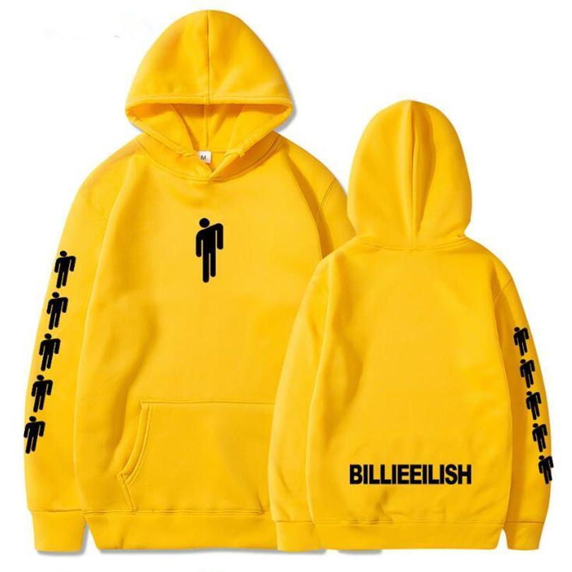2019 Hot Sale Billie Eilish Fashion Printed Hoodies Women/Men Long Sleeve Hooded Sweatshirts Casual Trendy Streetwear Hoodies