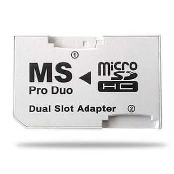 Adaptador micro SD a memory stick pro duo dual  Blanco