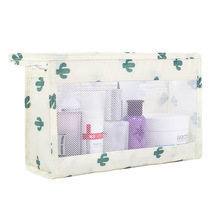 купить Women's beauty bag multi-function waterproof transparent swimming storage bag travel zipper cosmetics storage bag дешево