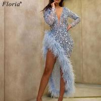 Custom Made Elegant Sequins Prom Dresses 2020 Deep V Neck Mermaid Pageant Dresses Party Evening Wear платье вечернее Vestidos
